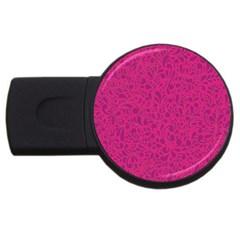 Pink pattern USB Flash Drive Round (1 GB)
