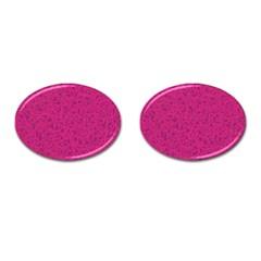 Pink pattern Cufflinks (Oval)