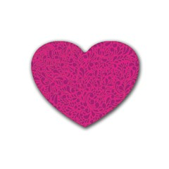 Pink pattern Rubber Coaster (Heart)