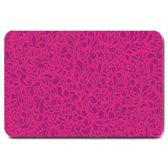 Pink pattern Large Doormat
