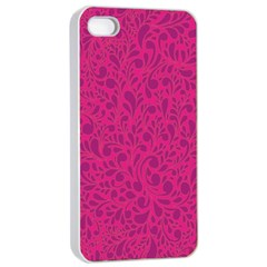 Pink pattern Apple iPhone 4/4s Seamless Case (White)