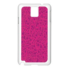 Pink pattern Samsung Galaxy Note 3 N9005 Case (White)