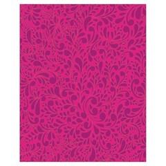 Pink pattern Drawstring Bag (Small)