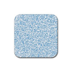 Blue pattern Rubber Square Coaster (4 pack)