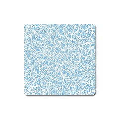 Blue pattern Square Magnet