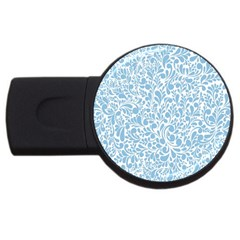 Blue pattern USB Flash Drive Round (4 GB)