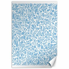 Blue pattern Canvas 12  x 18