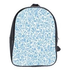 Blue pattern School Bags (XL)