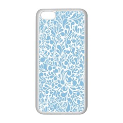 Blue pattern Apple iPhone 5C Seamless Case (White)