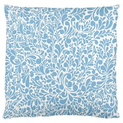 Blue pattern Large Flano Cushion Case (One Side)