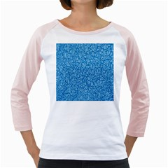 Blue pattern Girly Raglans