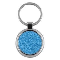 Blue pattern Key Chains (Round)