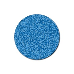 Blue pattern Rubber Round Coaster (4 pack)