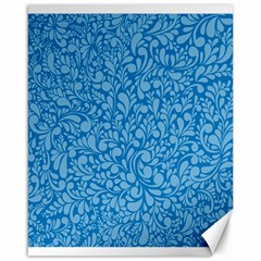 Blue pattern Canvas 16  x 20