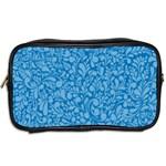 Blue pattern Toiletries Bags 2-Side Back