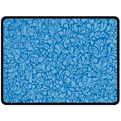 Blue pattern Fleece Blanket (Large)