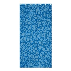 Blue pattern Shower Curtain 36  x 72  (Stall)