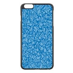 Blue pattern Apple iPhone 6 Plus/6S Plus Black Enamel Case