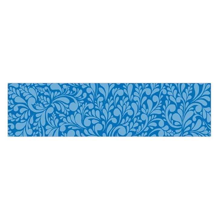 Blue pattern Satin Scarf (Oblong)