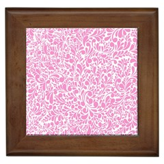 Pink pattern Framed Tiles