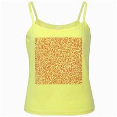 Pink pattern Yellow Spaghetti Tank