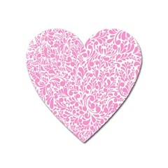 Pink pattern Heart Magnet