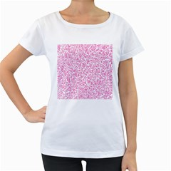 Pink pattern Women s Loose-Fit T-Shirt (White)