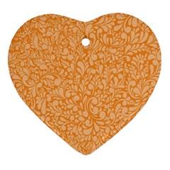 Orange pattern Ornament (Heart)