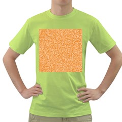 Orange pattern Green T-Shirt