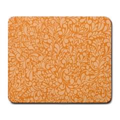 Orange pattern Large Mousepads