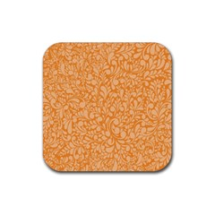 Orange pattern Rubber Coaster (Square)