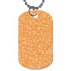 Orange pattern Dog Tag (Two Sides)
