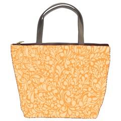 Orange pattern Bucket Bags