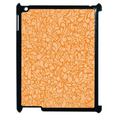 Orange pattern Apple iPad 2 Case (Black)