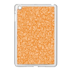 Orange pattern Apple iPad Mini Case (White)