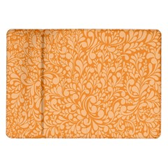 Orange pattern Samsung Galaxy Tab 10.1  P7500 Flip Case
