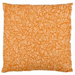 Orange pattern Large Flano Cushion Case (Two Sides)