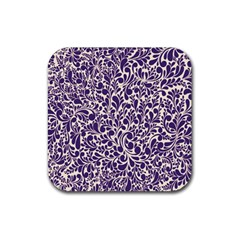Purple pattern Rubber Coaster (Square)