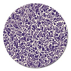 Purple pattern Magnet 5  (Round)