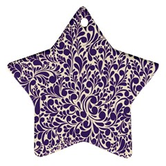 Purple pattern Star Ornament (Two Sides)