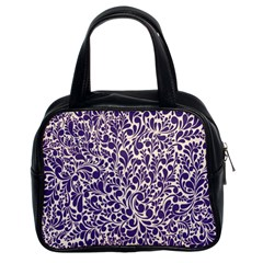 Purple pattern Classic Handbags (2 Sides)
