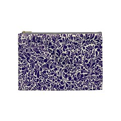 Purple pattern Cosmetic Bag (Medium)