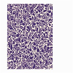 Purple pattern Small Garden Flag (Two Sides)