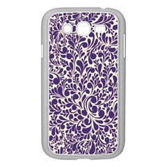 Purple pattern Samsung Galaxy Grand DUOS I9082 Case (White)