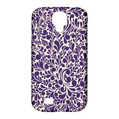 Purple pattern Samsung Galaxy S4 Classic Hardshell Case (PC+Silicone)
