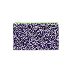 Purple pattern Cosmetic Bag (XS)