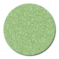Green pattern Round Mousepads