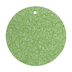 Green pattern Ornament (Round)