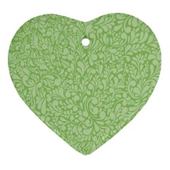 Green pattern Ornament (Heart)