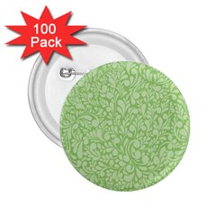 Green pattern 2.25  Buttons (100 pack)